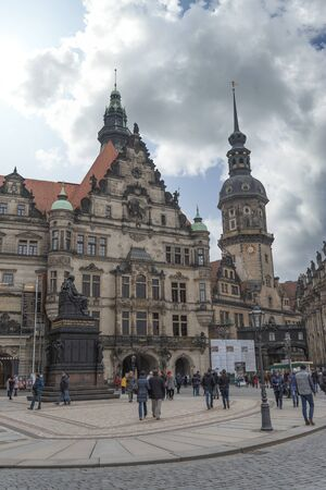 Dresden in Germany. architecture of the reconstructed old city.