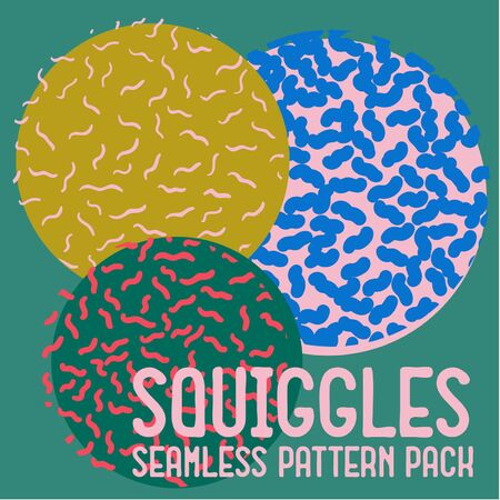 Squiggles Seamless Pattern Pack