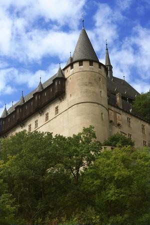 Sights of  Czech. Castle Karlstein near Prague.