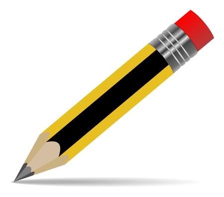 Illustration pour Pencil pen isolated on white background. - image libre de droit
