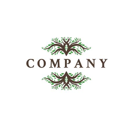 Illustration pour deer leaf antlers logo design inspirations - image libre de droit