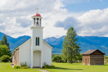 rustic mountain chapel in Montana