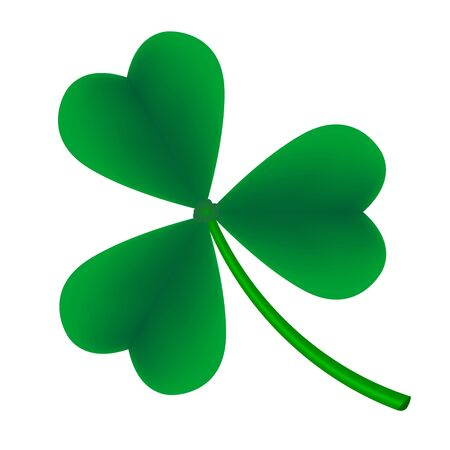 Illustration pour Leaf clover on a white background. Green clover leaf. - image libre de droit