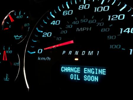 Change engine oil soon warning light on dashboard