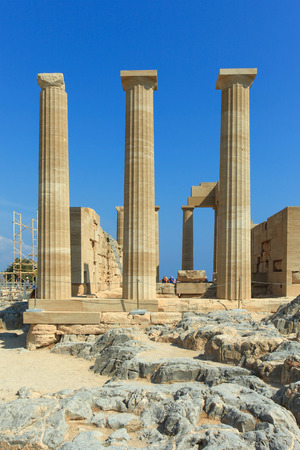 Lindos ancient Acropolis ruins