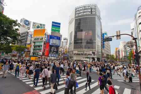 Photo for Shibuya pedestrian crossing also known as Shibuya scramble - Royalty Free Image