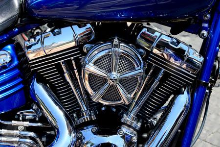 Chrome coated V-Twin engine