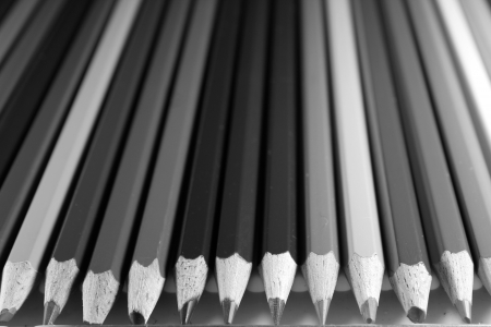 Blank and white pencils