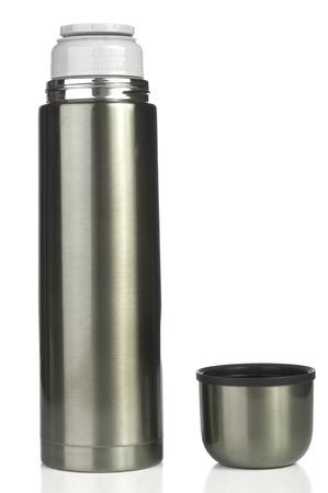 Thermos flask closeup