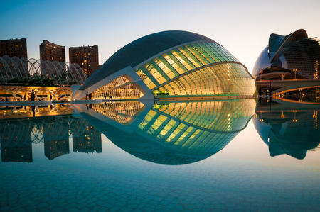 The city of the Arts and Sciences in Valencia, Spain.