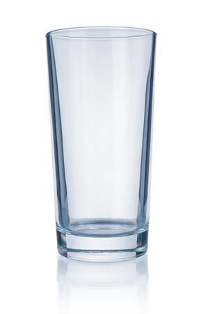 Photo pour Empty glass close up isolated on white background - image libre de droit