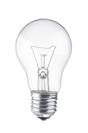 Photo for Light bulb close up on white background - Royalty Free Image