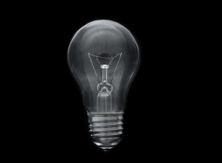 Photo for Old, dirty light bulb close up on black background - Royalty Free Image