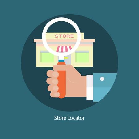 Illustration pour Store location concept - image libre de droit