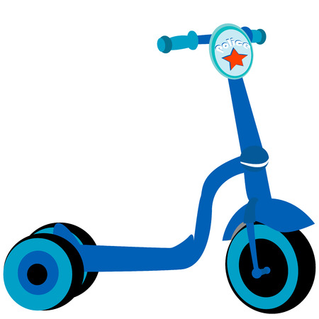 Police toy scooter, isolated object on white background
