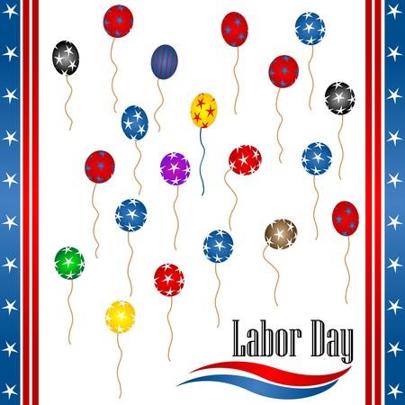 Labor day background illustration