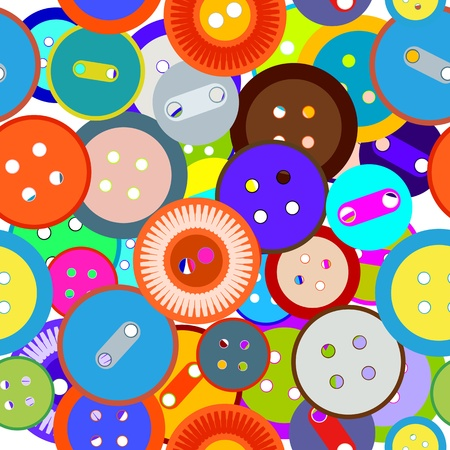 Fashion buttons seamless background