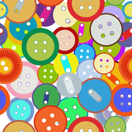 A seamless background with fashion sewing buttons