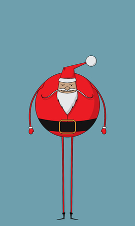 Fat and jovial Santa character
