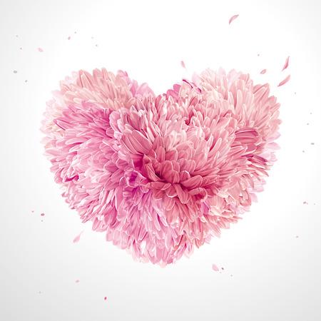 Illustration pour Heart of flowers  for Valentine's Day - image libre de droit