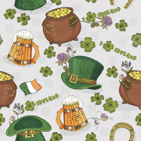 9c5d3a23 Vector of Seamless pattern St. Patrick - ID:36648666 - Royalty Free ...