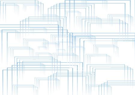 Foto per quadrati estrusi azzurri - Immagine Royalty Free