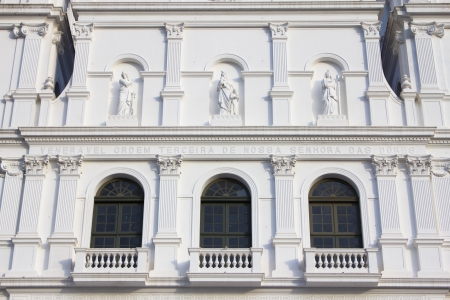 Detail from the front of the White Church in Porto Alegre city - Brazil.