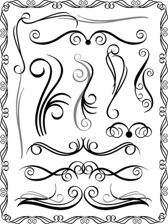 Collection #1 of decorative borders and dividers.