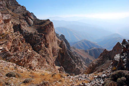 Perspective from the top in the Western Tien Shan. Uzbekistan