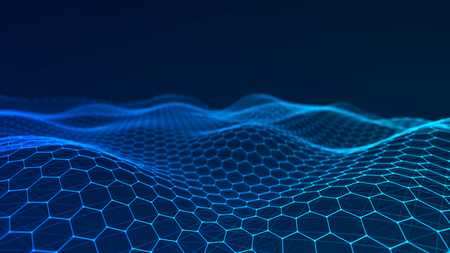 Photo pour Music abstract background. Network connection. 3D rendering. - image libre de droit
