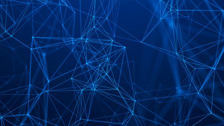 Photo pour Network connection structure. Abstract technology background. Futuristic background. Big data digital background. 3d rendering. - image libre de droit