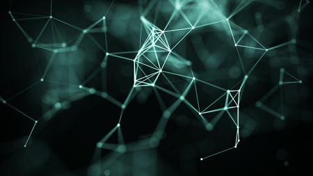 Photo pour Technology concept background. Concept of Network. Abstract science geometrical background with connecting dots and lines. Big data visualization. - image libre de droit