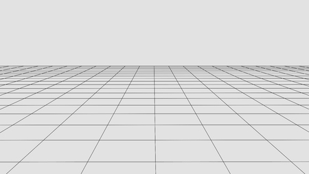 Illustration pour Perspective grid background. Abstract vector wireframe landscape. Abstract mesh background. - image libre de droit