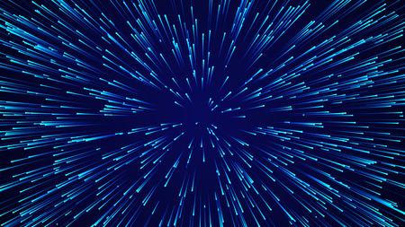 Photo pour Abstract circular speed background. Starburst dynamic lines pattern. Abstract data flow background. - image libre de droit