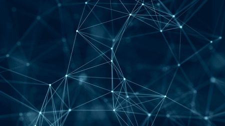 Photo for Network connection structure. Abstract digital background. Big data digital background. 3d rendering. - Royalty Free Image