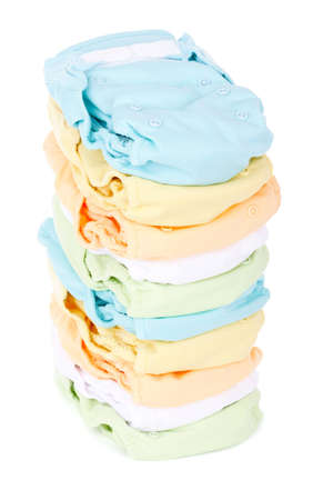 Photo pour stack of diapers isolated on white background - image libre de droit