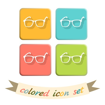 Vector Glasses Icon, eyeglasses sign