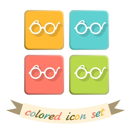 Vector Glasses Icon, eyeglasses sign