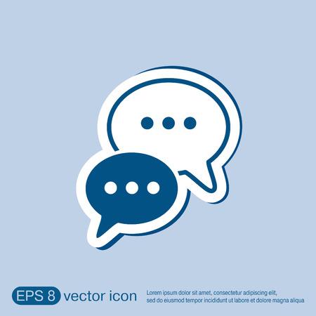 Illustration pour the cloud of speaking dialogue - image libre de droit