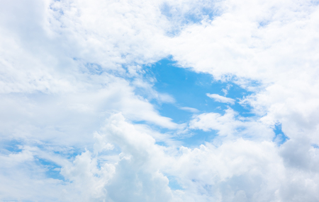 Photo pour clear blue sky with white clouds on good weather.blue sky on sunlight background.skyscape.cloudscape.beautiful vast blue sky and fluffy clouds with some space. - image libre de droit