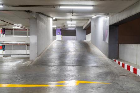 Photo pour Car parking lot free copy space. - image libre de droit