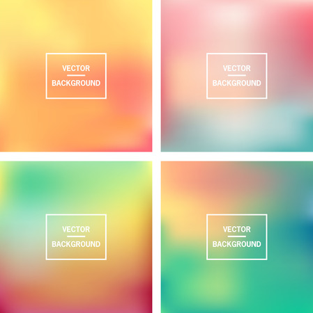 Abstract colorful blurred vector backgrounds   Elements for your website or presentation