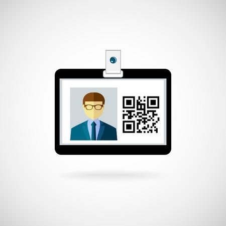 Illustration pour Identification card icon  Vector illustration  Lanyard visitor - image libre de droit
