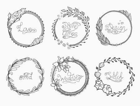 Monogram Luxury Logo Template With Flourishes Calligraphic Elegant Ornament Elements Design For Cafe