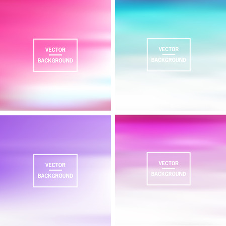 Abstract colorful template blurred vector backgrounds.  Elements for your website, application, banner, presentation.