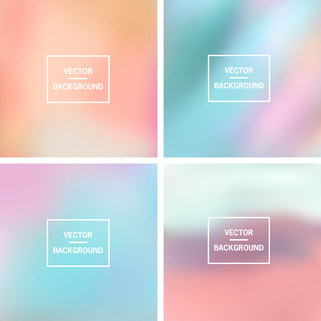 Abstract colorful blurred vector backgrounds.  Elements for your website or presentation.のイラスト素材