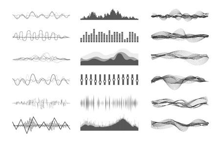 Ilustración de Vector music sound waves - Imagen libre de derechos