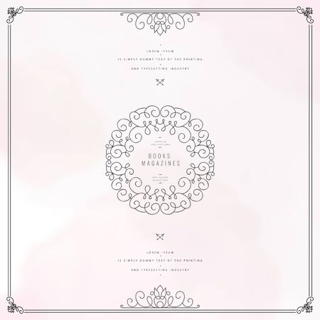 Collection of templates. Flourishes calligraphic ornaments and frames. Good for logos, books, jewelry, badges, postcard, banners, signes Vector illustration