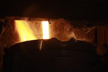 converter in the steel mills, closeup of photo