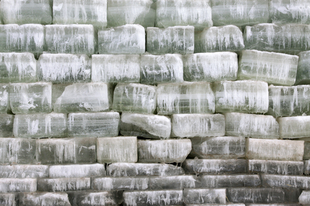 piles of ice in the outdoor, closeup of photo